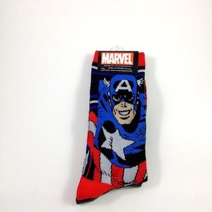 Marvel Avengers Captain America Crew Socks 6-12